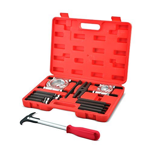 "Bearing Puller & Separator Set w/ Seal Remover Tool - 12 Piece Hex Drive & Even-Pull Head w/ 2"" & 3"" Diameter Splitters by Approved For Automotive - Wheel Bearing Hub Removal Tool"