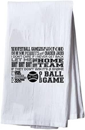 Old Ball Game, Baseball Dish Flour Sack Kitchen Towel