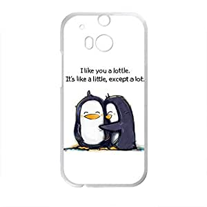 HDSAO Cute Penguin Love Pattern Plastic Case For HTC M8