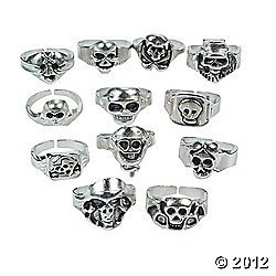 Pewter Finished Pirate Rings 1 Birthday product image