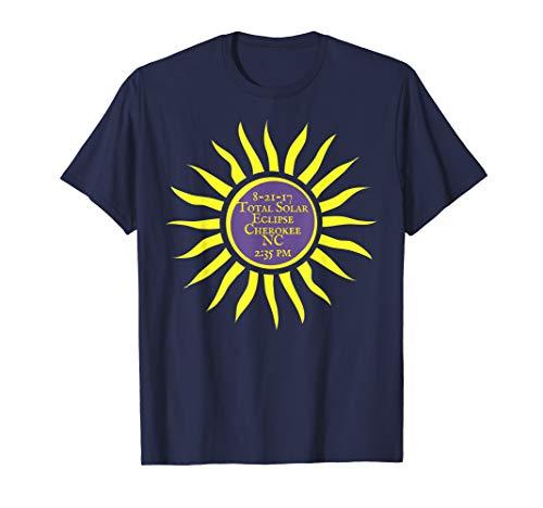 (Cherokee North Carolina Total Solar Eclipse Shirt, Sun Tee)