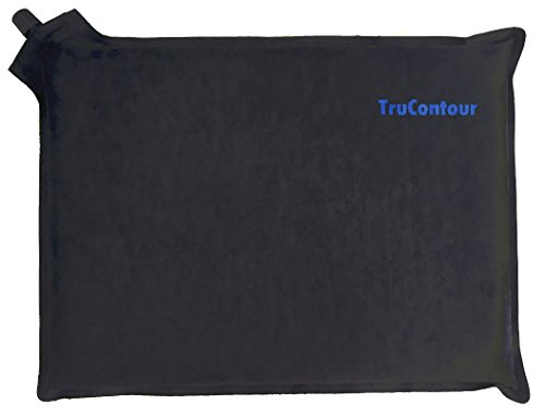 Self Inflatable Seat Cushion - Perfect for Airplane Travel, Stadiums, Bleachers, and Driving Cars. Easy to Inflate/Deflate & Transport. (3 inch thick) by TruContour