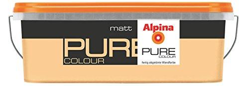 ALPINA Pure Colour, 2,5 L. Wandfarbe, Apricot Matt (Aprikose)2,5 Liter Für  Ca. 20   25 M² Bei Einmaligem Anstrich.: Amazon.de: Baumarkt