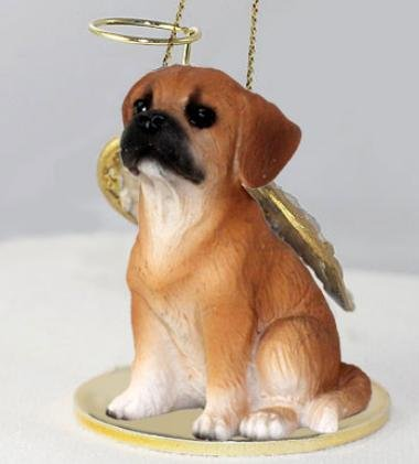 Puggle Tiny One Dog Angel Christmas Ornament - Tiny One Dog Ornament