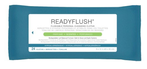 ReadyFlush Flushable Wet Wipes Inches