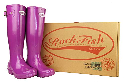 Wellies Original Rockfish Gloss Supaberry Uk8 Waterproof Standard Tall qv1S41