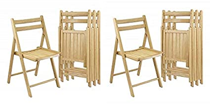 Surprising Amazon Com Winsome Wood Folding Chairs Natural Finish 2 X Customarchery Wood Chair Design Ideas Customarcherynet
