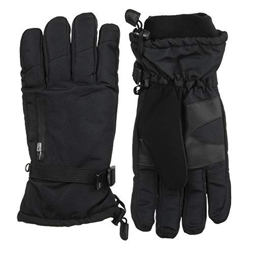 - ISOTONER Men's Ski Gloves, Waterproof ,Windproof and Insulated for Cold Weather (Medium / Large, Black)