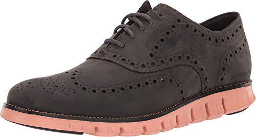 Cole Haan Men's Zerogrand Wingtip Oxford Leather Magnet Leather/Black/Canyon Sunset 8.5 D US ()