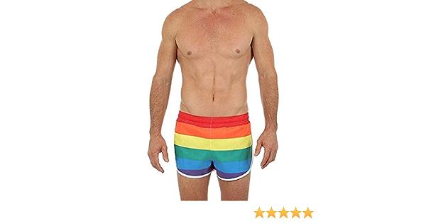RAINBOW Pride Shorts Pride Shorts Men/'s Basic Running Shorts Swimwear Trunks