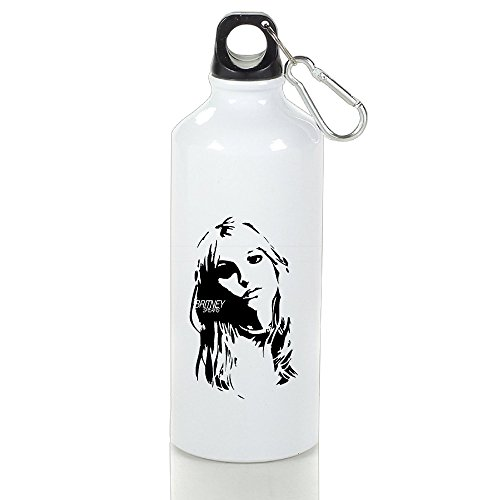 (DW Britney Spears Stainless Steel Sports Drinking Bottle With Stopper And Carabineer Clip - Suitable For Gyms, Biking, Camping And Outdoor Sports - 600ml)