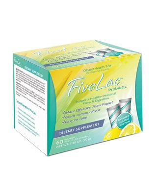 (4) Boxes FiveLac Candida Defense Fights Yeast Infections, Candida, Digestive Disorders by Global Health Trax ThreeLac