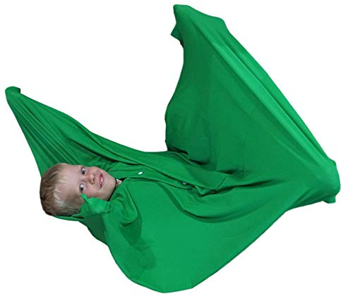 Sensory Sack (Medium), Body Sock, Calming Therapy Blanket, Sensory for Stress Relief, Anxiety, Autism, ADHD, ADD, Tactile Items for Therapeutic Play, Kids Fidget Toy, Body Pod in Green - Sensory4U