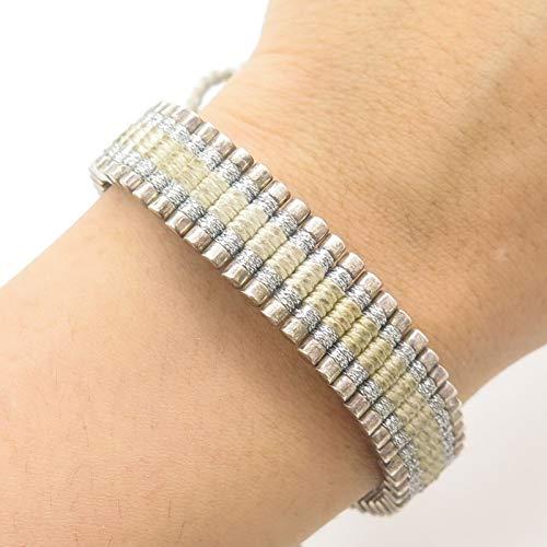 - London Links 925 Sterling Silver Wide Adjustable Link Bracelet 9