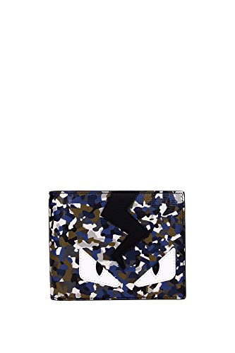 FENDI Black and Blue Bag Bugs Print