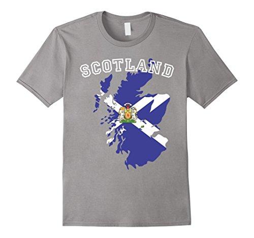 Men's Scotland Flag Proud Scottish Coat of Arms Emblem T-shirt Large (Flag Coat Arms)