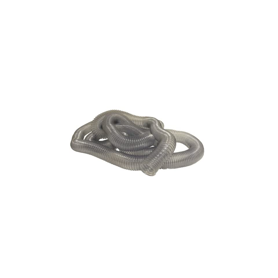 PVC Flexduct (Light Duty) Clear   Vent Hose   1.25 ID x 12.5ft Length Hose (Fully Stretched)