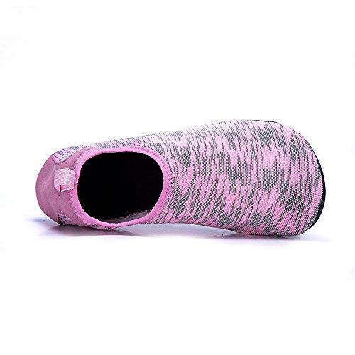 de de Secado Soles de Piscina LK Rápido Xhw pink LEKUNI Color de Natación Playa Calzado Agua Zapatos de Zapatos Unisex Respirable Agua 7UztqnazS
