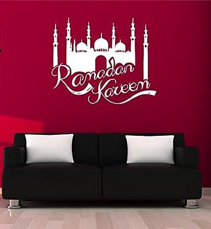 Wall Decal Sticker Muslin Decal Quote Eid Murabak Ramadan Kareem Mask Islam  Religion 1704t