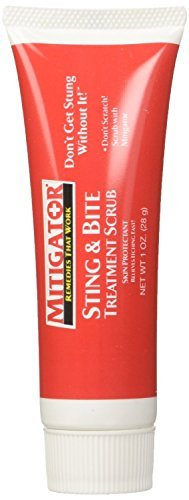 Mitigator Sting & Bite Scrub Treatment Skin Protectant Relieves Itching Fast!, 1 oz Tube