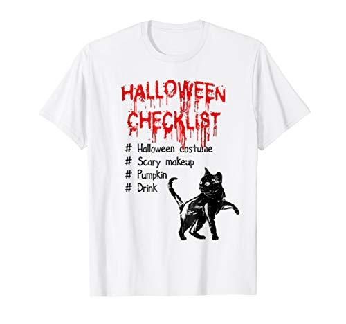 (Halloween Checklist Costume Makeup Pumpkin Drink)