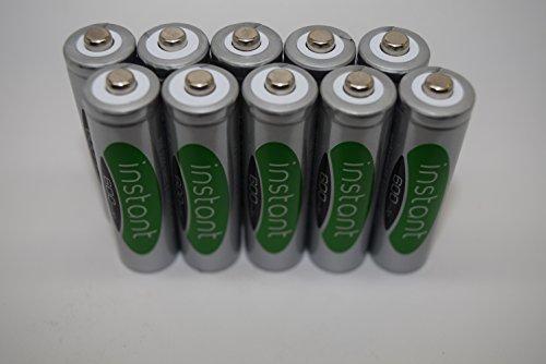 AA Solar Light Rechargeable Batteries (pack of 10) Nimh LSD Instance 600mAh