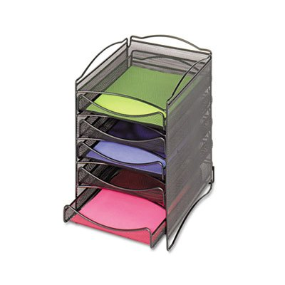 Onyx Stackable Literature Organizer, Five-Drawer, Black, Sold as 1 Each