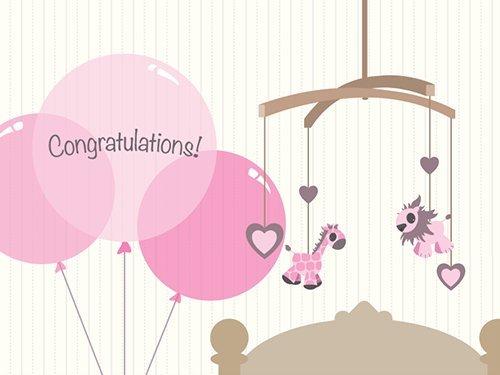 Amazon Gift Card - Print - New Baby Girl (Balloons ...