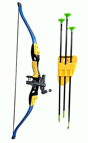 Archery Toy Big Size Sports Series Archer Bow and Arrow Toy, Laser Target, Quiver, 3 Arrows, Strong String Thread