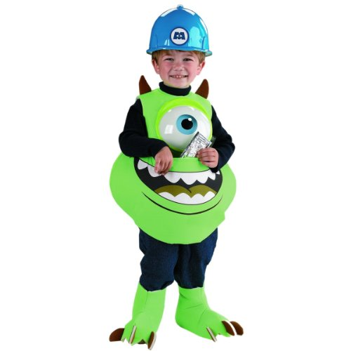 Mike Candy Catcher Costume,Fits up to size (Monster From Monsters Inc)