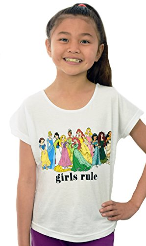 Disney Princess Girls Rule Tween Kids T-shirt (5/6 Extra Small (Mulan Disney Princess)