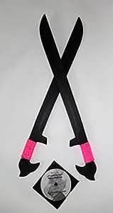 2 Practice Espada Trainer Swords & Martial Arts Flow Pattern Instruction DVD PINK