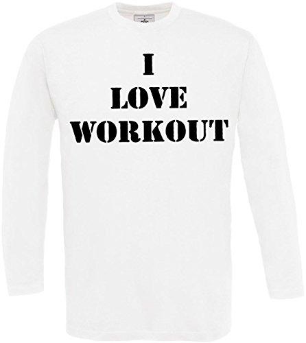 À De shirt D'entraînement S Musculation Motivation Cool Impression White nbsp;sports Workout Fitness Manches 3xl Homme Disant Longues T Concepteur REwd6146q