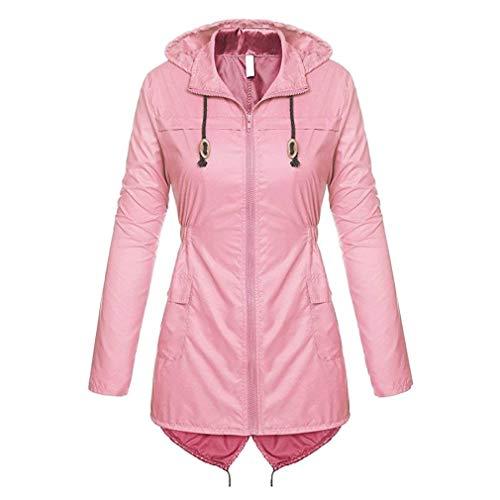 Outerwear Elegante Rosa Giacche Moda Giaccone Cose Women Giovane Cappotto Autunno Primaverile Puro Colore Fresco Di Giacca Manica Donna Antipioggia Lunga RHwqIgZS