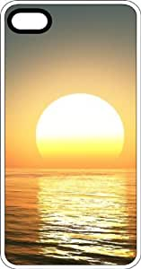 Glowing Sunset On Ocean Clear Plastic Case for Apple iPhone 4 or iPhone 4s