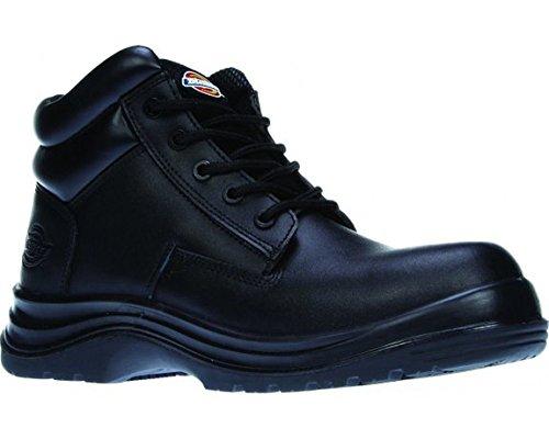 Dickies Deltona Sicherheit Boot, Composite Fuß, schwarz Leder Arbeit Schwarz