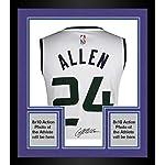 Framed Grayson Allen Utah Jazz Autographed Fanatics White Fastbreak Jersey.