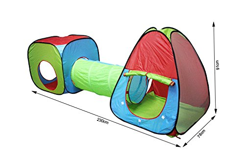 G4RCE/® 3 in 1 Childrens Physical Exciting Kids Baby Play Tent Tunnel Playhouse Set Pop Up Outdoor Indoor