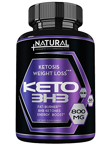 Keto Diet BHB Salts Supplement - Fat Burner - Ketosis Booster as Exogenous Ketones, Electrolytes and Caffeine - Shark Tank Diet 60 Pills