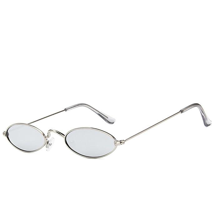 Da Casuale Occhiali Per Uomo Freddo Ovale Bicchieri Hd Metallo Sole 9HI2ED