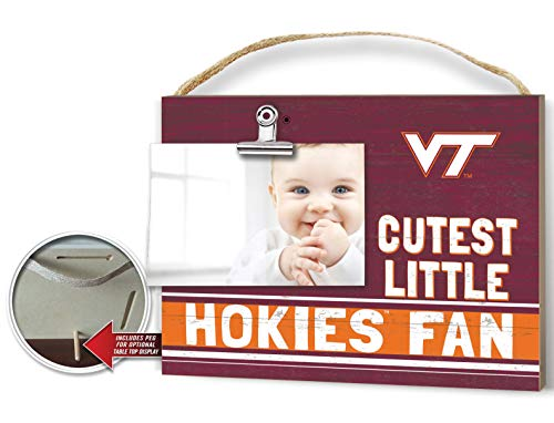 KH Sports Fan Clip It Colored Baby Logo Photo Frame Virginia Tech Hokies
