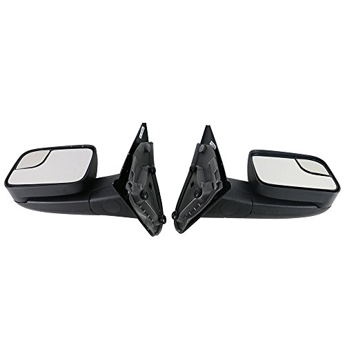 Towing Mirror Compatible With 2002-2008 Dodge Ram 1500 2002-2009 Ram 2500 3500   Side View Towing Mirrors Manual LH RH by IKON MOTORSPORTS   2003 2004 2005 2006 2007