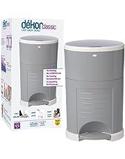 Dekor Classic Hands-Free Diaper Pail, Gray