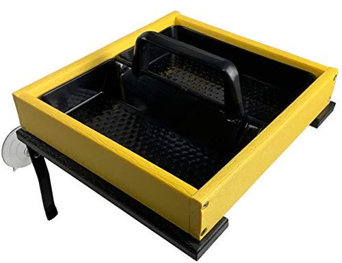 - JCs Wildlife Easy Clean Yellow Poly Window-Mount Platform Bird Feeder USA Made