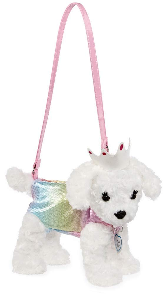 Poochie and Co Plush Purse- Mindy The Maltese with Crown by Pooch and Co (Image #1)