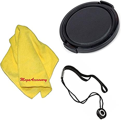 67mm Universal Snap-On Lens Cap for Canon EF-S 18-135mm f//3.5-5.6 is Standard Zoom Lens Microfiber Cleaning Cloth Cap Keeper