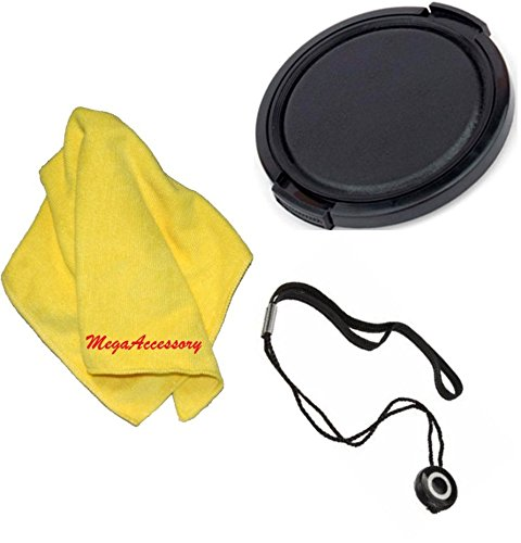 30mm Universal Snap-On Lens Cap For Sony HDR-CX110 High Definition Handycam Camcorder + Cap Keeper + MicroFiber Cleaning Cloth + LCD Screen Protectors