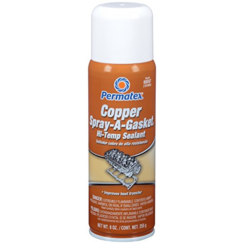 Permatex 80697 Copper Spray-A-Gasket Hi-Temp Adhesive Sealant, 9 oz. net Aerosol ()