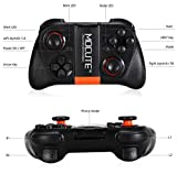 Wireless Bluetooth Game Controller Wireless Gamepad Joypad Joystick with Phone Clip for Android Samsung S7 S6 Edge Note 5 Nexus LG Smartphone Tablet Emulator Gear VR, Windows PC via BT HID Protocol