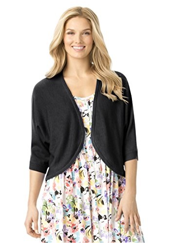 Womens Plus Rib Trimmed Cardigan Sweater product image